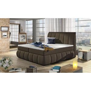 NABBI Vareso 140 čalúnená manželská posteľ s úložným priestorom hnedá (Orinoco 29)