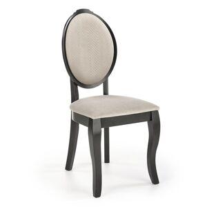 HALMAR Velo jedálenská stolička čierna / béžová