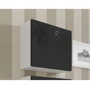 CAMA MEBLE Vigo 50 skrinka na stenu biela / čierny lesk