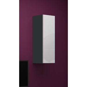 CAMA MEBLE Vigo 90 skrinka na stenu sivá / biely lesk