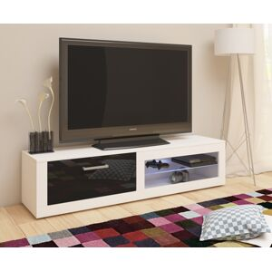 MEBLOCROSS Viki New tv stolík biela / čierny lesk