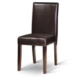 KONDELA Viva New jedálenská stolička tmavý orech / tmavohnedá