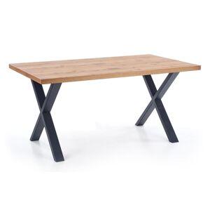 HALMAR Xavier rozkladací jedálenský stôl dub svetlý / čierna