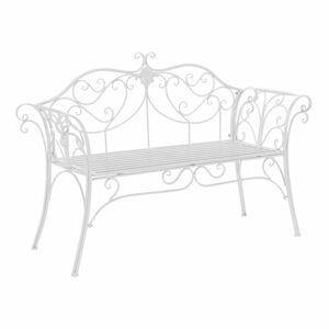 TEMPO KONDELA Etelia záhradná lavička biela