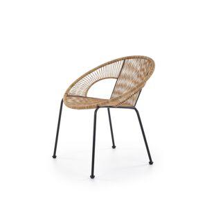 HALMAR Bari záhradná stolička hnedá / čierna